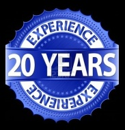 20-years-experience-golden-label-with-ribbon