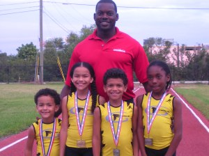 Chris Chambers & G-Force Medalists from the AAU Jimmy Carnes Indoor Meet 2013