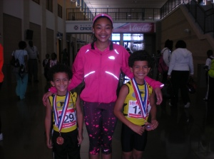 Tovani & Tre with Tiani C. a world record holder many times over