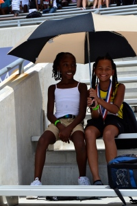 Tori & Taliyah J.O. Qualifiers enjoying some shade!!! (2012)