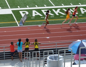 At the J.O. watching the 800m (2012)
