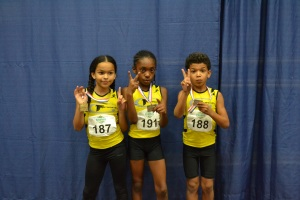G-Force Medalists @ Jimmy Carnes 2013 Taliyah (1st LJ) Tori (2nd LJ) Tovani (2nd 400m)