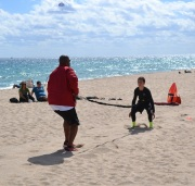 Cole with Coach Travis working on assisted sprints 2/2/13