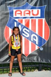 Taliyah Mizell AAU Junior Olympic Medalist (2012)