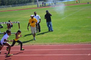 Taliyah 60m start @ Hallandale All-Comers against M/HS (2013)