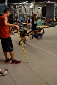 Tovani doing the Broad Jump