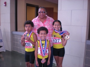 G-Force athletes with Robin Beamon